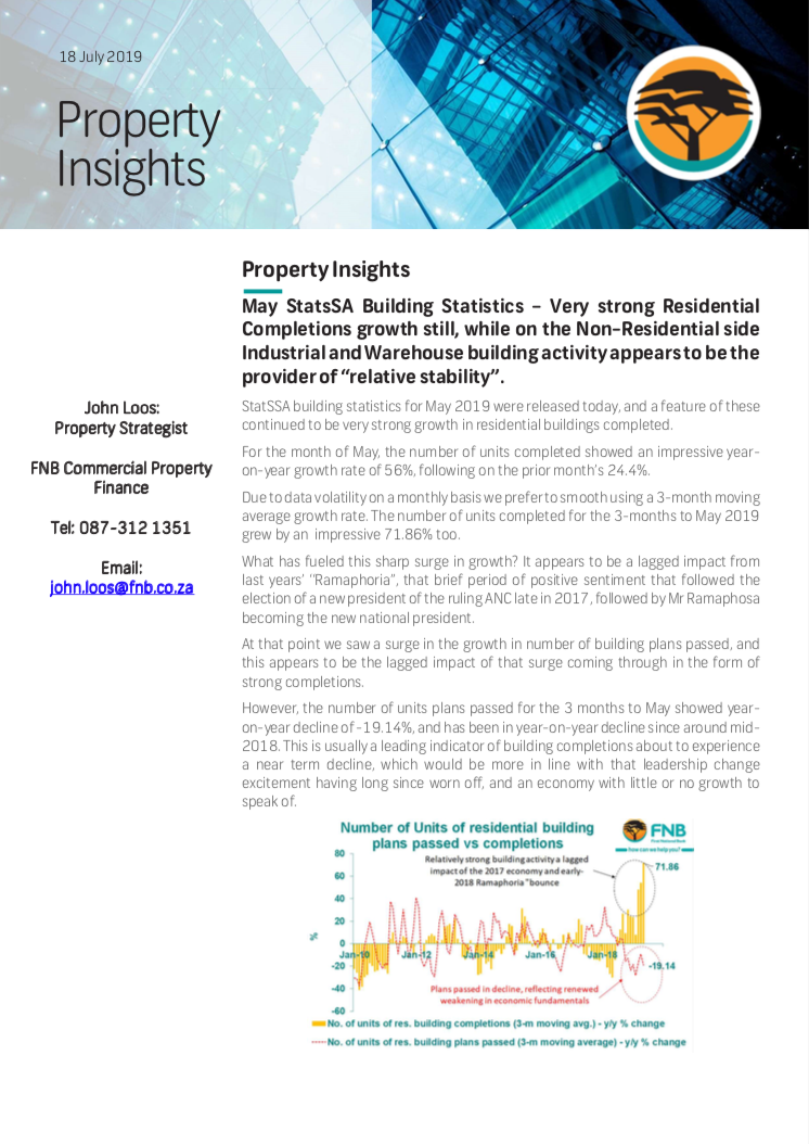Property Insights Building Statistics 2019