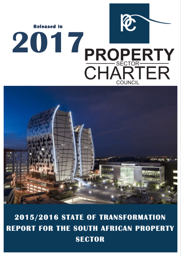 State Of Transformation Report For The South African Property Sector 2015/2016