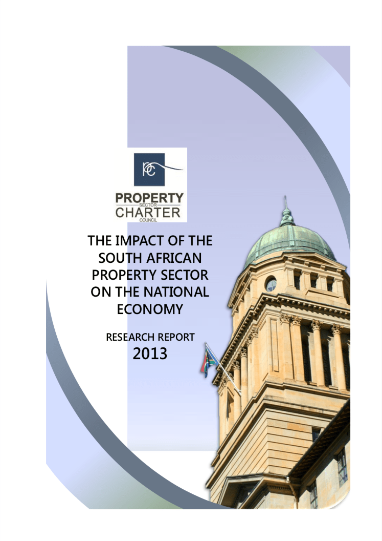 The Impact of The South African Property Sector On The National Economy 2013