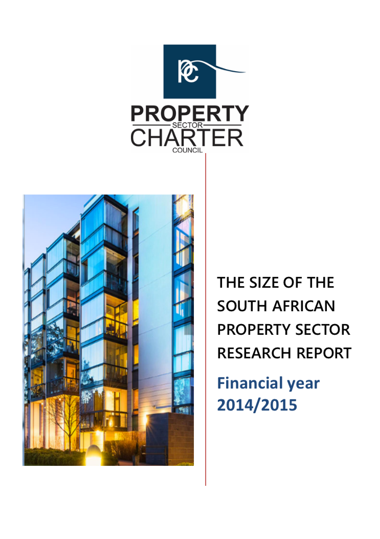 The Size of The South African Property Sector Research Report 2014/2015